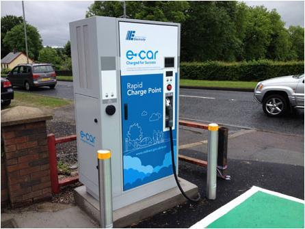 ABB ecars, Ireland Rapid Charger network for ESB and NIE ABB