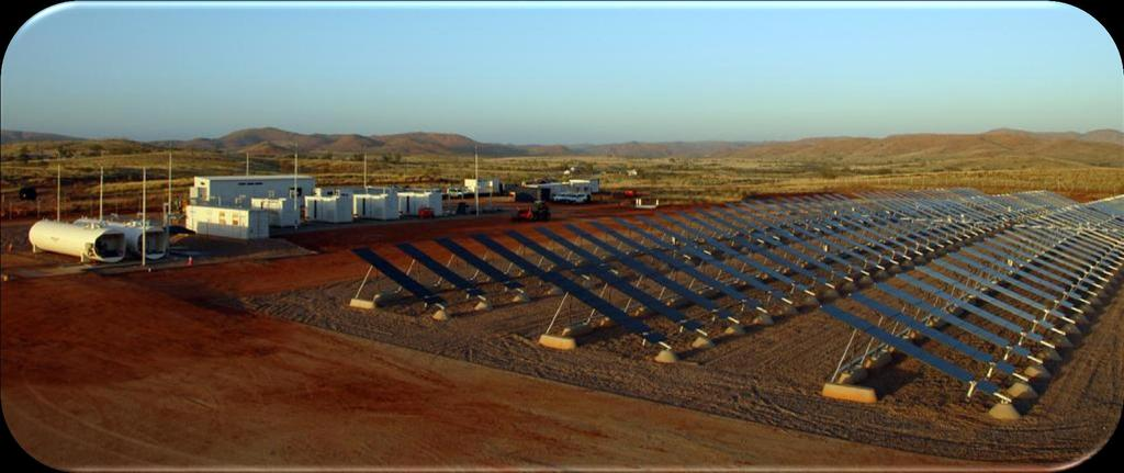"Project Experience Marble Bar, Solar/Diesel System Western Australia ""The Project is supported by the Australian Government through the"