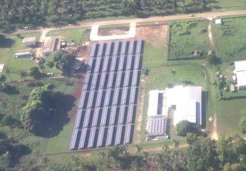 Vava u Hybrid Solar Project 500kW of solar PV 100kW of battery storage Ground mounted Fully