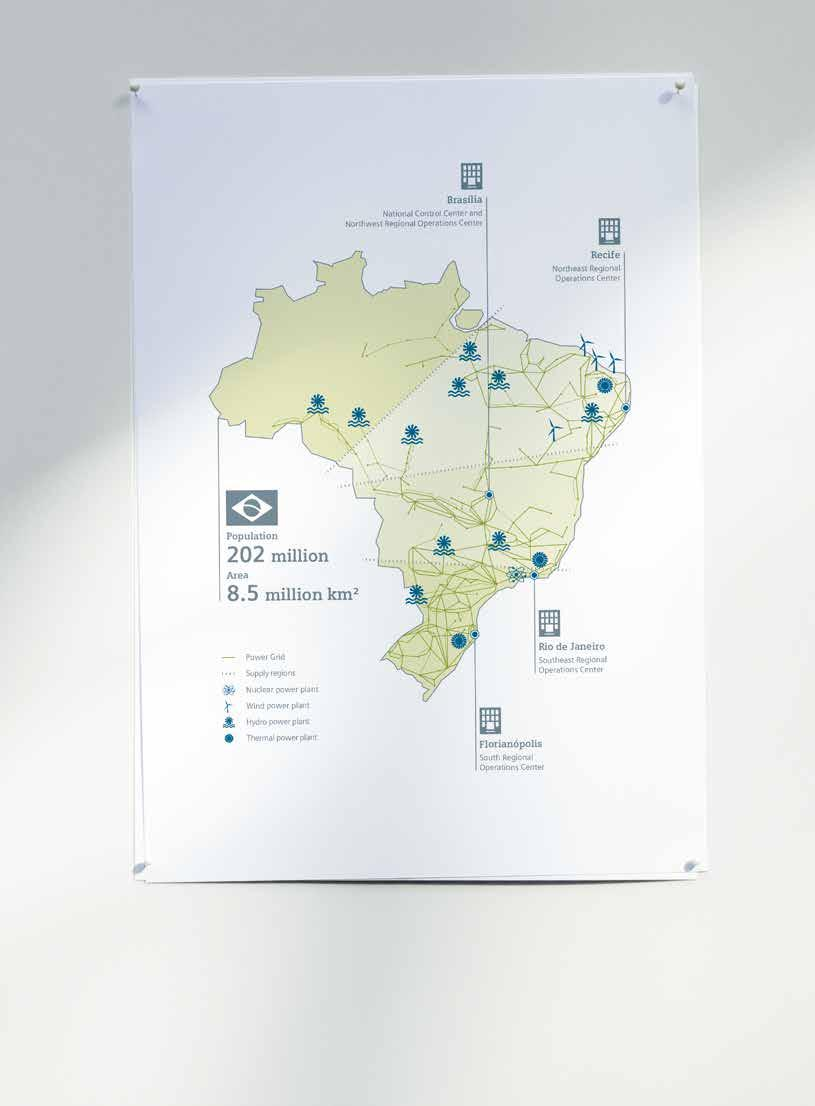 Power transmission, power distribution and smart grid 36 Always up-to-date Brazil s power grid covers around five million square kilometers or about two-thirds of the country and supplies 97 % of the