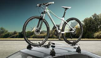 Bikes, skis and luggage can all be easily mounted to the roof rack, which is 100% compatible with the