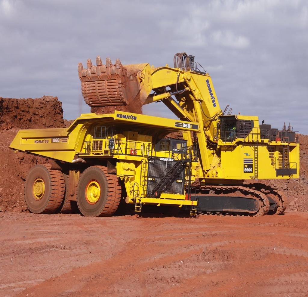 ENGINE POWER 2 x 940 kw / 1260 HP @ 1800 rpm OPERATING WEIGHT 533 552 ton / 1,175,200 1,217,100 lb SHOVEL CAPACITY 29 m³ / 38 yd³