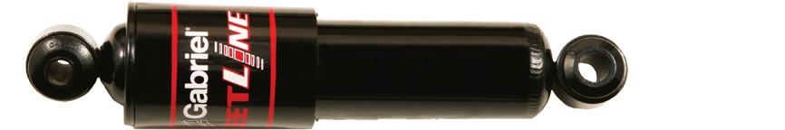 FLUID Premium, adjustable, heavy-duty gas shock for class 7 8 vehicles, school buses and transit buses Three