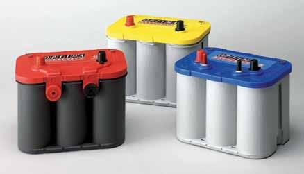 marine catalogue OPTIMA REDTOP Starting battery for professional use Maximum starting power for big diesel engines and heavy machines This technology guarantees a maximum of starting power, also at