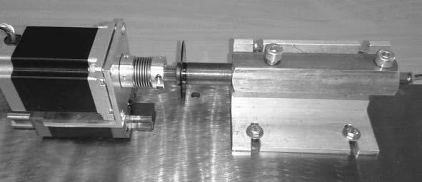 Figure 10. Drive actuator connected to a step motor with a roller guide.