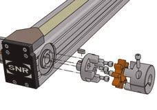 Integrated coupling Friction-locked torque transfer is achieved using a coupling screwed down with a pulley.