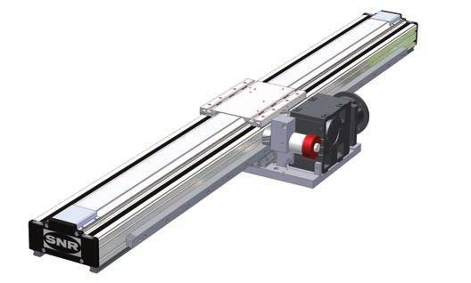 Telescopic axis AXS240T Compared to the standard telescopic axis (see page 64-65), the special linear axis AXS240T can take higher loads and torque loads.
