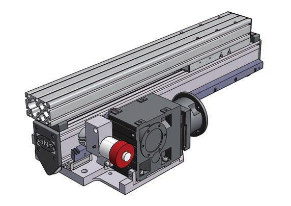 AXS120TM500 lifting axis with rack and pinion drive and profile ball