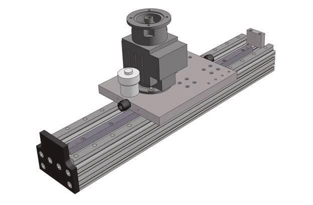 AXS200M200 lifting axis with rack and pinion drive and profile ball rail guide Deep (8x) cylindrical gear