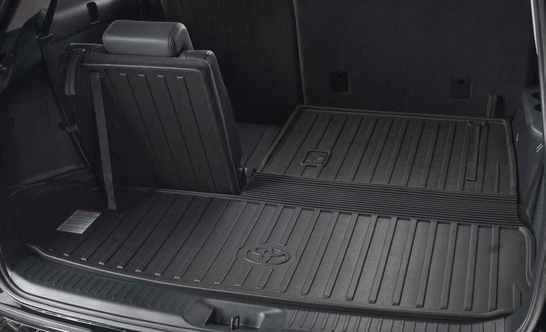 INTERIOR ACCESSORIES All-Weather Floor Liners These Toyota front & rear all-weather floor liners 4 are an advanced concept in superior protection for the interior.