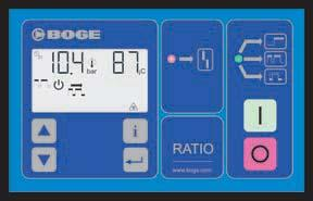 Controlling & saving energy at the same time: BOGE compressor controls The BOGE control and monitoring concept is designed to react to the individual needs of each compressed air system.