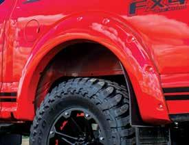 EGR Color Match Fender Flares feature preinstalled protective rubber trim and chrome finished decorative bolts for a hassle free installation in minutes.