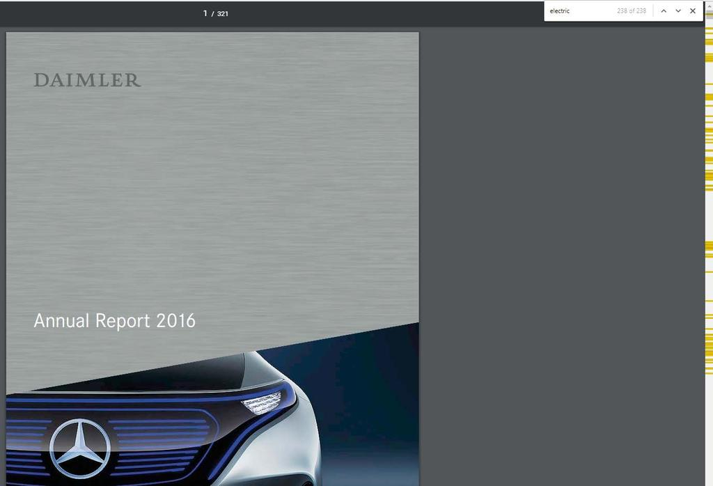 On the other hand, global vehicle manufacturers start seeing EVs as a core technology Daimler mentions electric