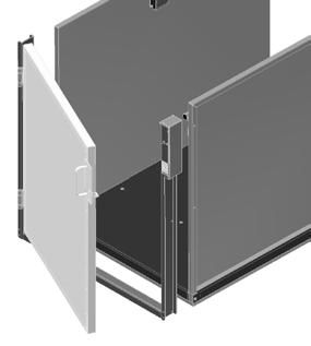 15 Platform Gate (optional) The optional platform gate is provided with a combination mechanical lock and electric contact (interlock).