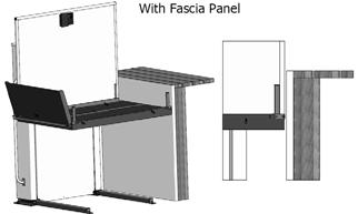 16 Fascia Panel (optional) A fascia panel provides a smooth surface for the