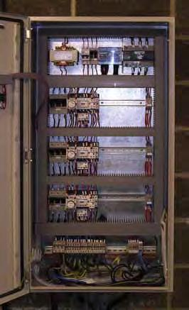 ELECTRICAL CHARACTERISTICS: The electrical control panel is mounted on the side of the machine.