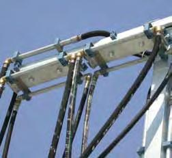 m) support and connect the hydraulic and pneumatic hoses and electrical cables that feed the portal/gantry.