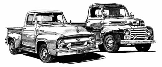 $5.00 Ford Pickup Trucks 1948 1956 The Old Car Centre EST.