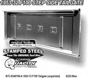 Tailgate & Related Parts 21C-8340700 Tailgate Assembly for Top of Roll 1942-50 8C-8340700 Tailgate Assembly for Below Roll 1950-52 NOTE: When ordering tailgate for 1950 it is very important to state