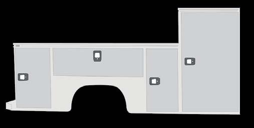 COMPARTMENTS // LOW PROFILE BODY Low Profile Bodies, denoted by LP, offer greater visibility from the cab