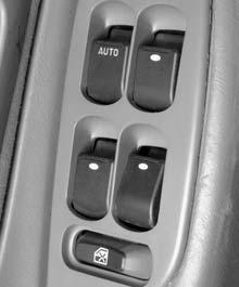 Power Windows Express-Down Window The power window switches are located on the armrest on the driver s door. In addition, each passenger door has a switch for its own window.