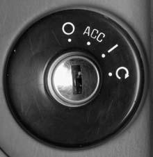 Starting and Operating Your Vehicle New Vehicle Break-In Ignition Positions With the key in the ignition switch, you can turn it to four different positions.