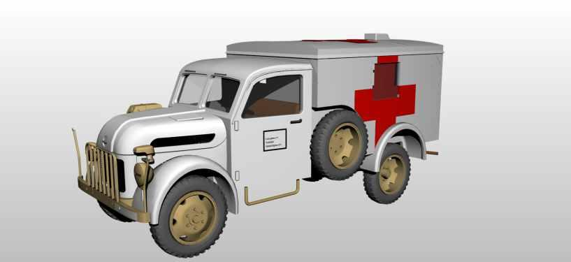 SA72016 Steyr 1500 Krankenwagen/Wood Cab 1/72 / 8594071083953 The Steyr 1500 vehicles of ex-austrian Steyr-Daimler-Puch company were designed for the unification programme of the German Wehrmacht