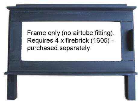 If there is a single or double hole at the top front right side, then the appropriate frame and airtube MUST be used. 1606BS Blenz combustion (frame only, for single airtube fitting).
