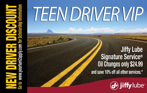 Jiffy Lube Teen Driver Scholarship Application 2017-2018 New Mexico High School Students One Overall $5,000 Scholarship Award and Two $1500 Finalist Awards (Three scholarships in total from both