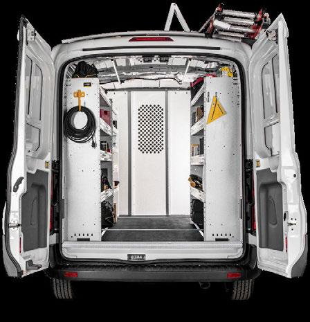 accessories. Ranger Designs custom-fit rigid flooring system is available for every type of service van.