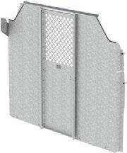 C30-FTL Straight Partition with Perforated Window, Swing Door Low Roof 65