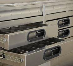 DRAWERS ACCESS TRAY P. 64 COMPACT DRAWERS P. 68 PARTSKEEPERS P. 69 TOUGH Proline drawers are backed by a 10 year warranty. PARTSLIDERS P. 66 TOOL DRAWERS P.