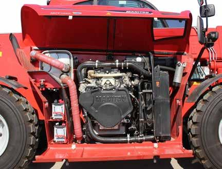 SERIES SERVICEABILITY SIMPLIFIED ACCESS The engine is positioned to the right side of the