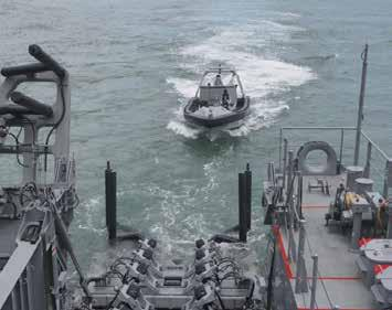 SLIPWAY STERN RECOVERY SYSTEM For Navy and Coast Guard vessels PALFINGER MARINE has developed