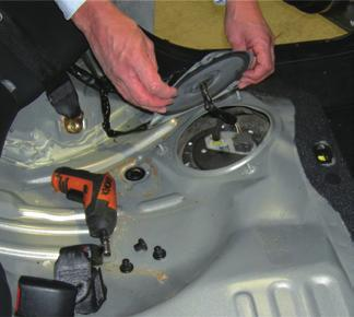 1) Through the Sender or Fuel Pump via the access plate An access plate is usually found in the boot