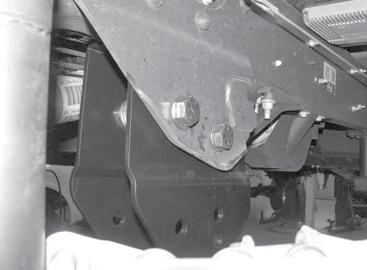 original holes in the frame. Torque bolts to 317 ft-lbs. SEE FIGURE 9 FIGURE 6 8.