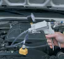 leaks caused by a blown head gasket or damaged block or head Test radiator and coolant bottle caps to ensure they are maintaining the correct pressure Contains adapters to test the cooling system and