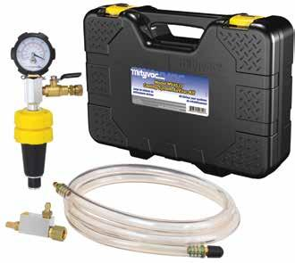 MV4534 Cooling System Pressure Tester Mityvac s MV4534 is a professional-grade, automotive cooling system test kit.