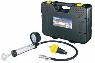 Applications: Pressure testing for leaks in automotive cooling systems www.mityvac.