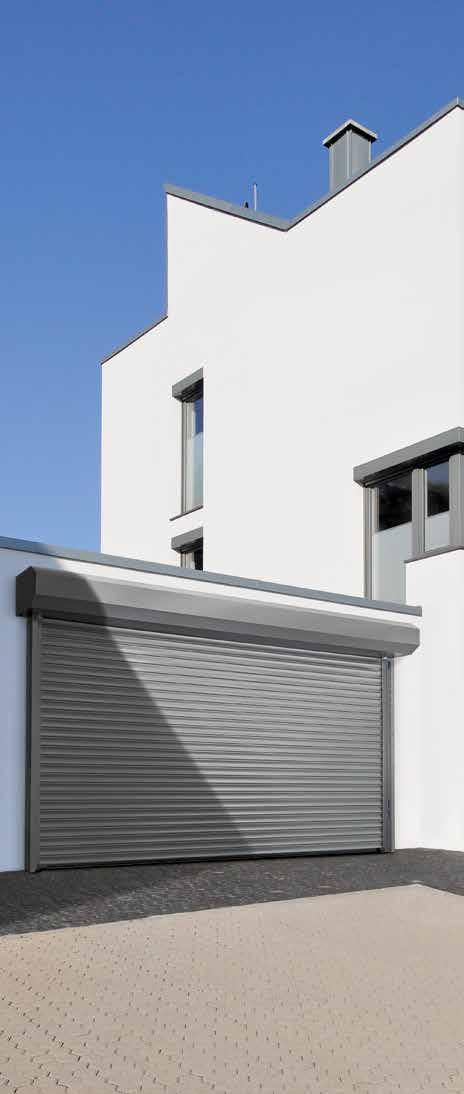 EXTERNAL ROLLING SHUTTER The solution for areas with a lack of interior sideroom The RollMatic is also available as an external roller garage door for fitting in front of the opening if your garage