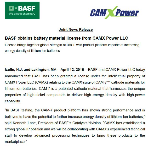CAMX Power Introduction We recently