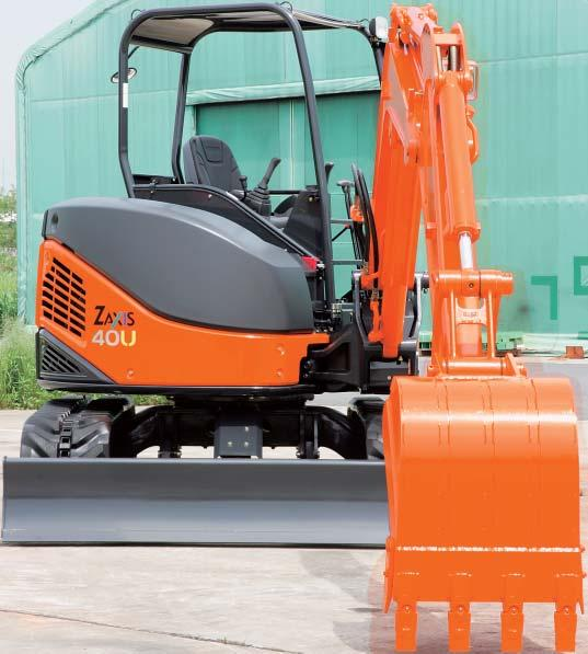 Compact yet Powerful Hitachi applied all its excavator expertise in the design of the new zero-tail mini excavators and.