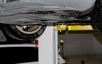 and remove the insulation panel from underneath the front of the