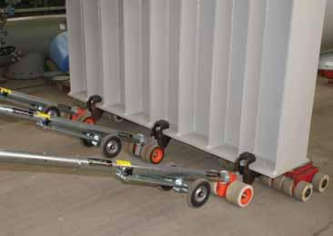 The concept of a portable electric powered tug to make the shifting and positioning of large loads on skates an easy and precise job,