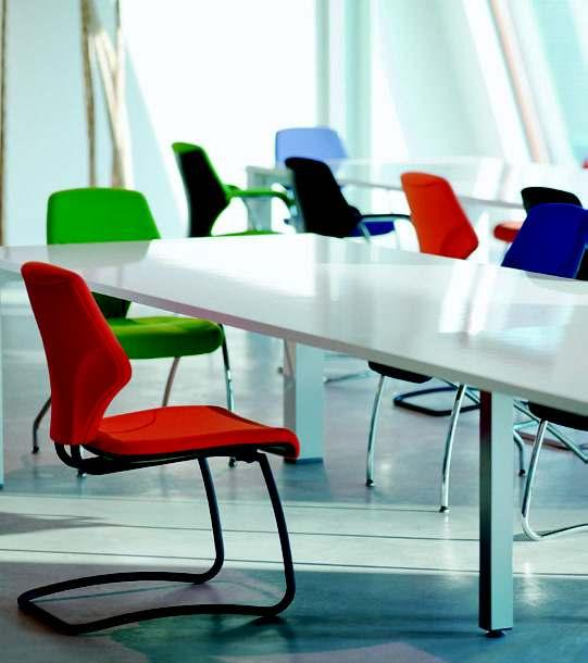 giroflex 64 Visitor s chair: whether as a cantilever or a four-legged chair the giroflex 64 adds colour to business life; in the meeting room or in waiting areas.