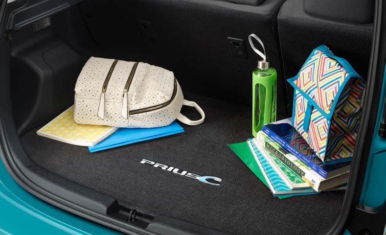 INTERIOR ACCESSORIES Carpet Cargo Mat The ideal solution for helping keep the Prius c cargo area looking like new.