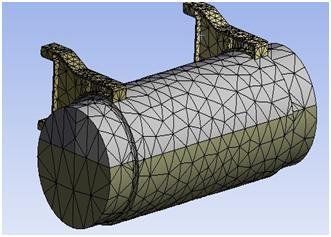 MESHING OF FUEL TANK: Figure: 4.1 Geometry for the basic design Figure: 3.