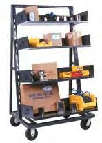 separately) MH012 Mobile Pipe Carts Perfect portable cart for storage and transport of long materials Sturdy all-welded arms create eight separate levels of storage while arm end stops retain round
