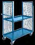 "Wire MEsh Trucks Wire Mesh shelf Trucks Rugged all-welded steel construction ready to use Designed for efficient loading/unloading and transportation of merchandise 14-gauge steel shelves, 1 1/2"" lip"