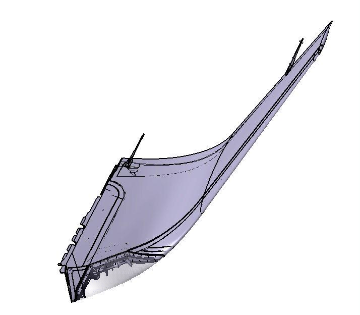 WINGLET The winglet is attached to the wing box structure and is composed of: - A torsion box made of foam with structural adhesive, - An upper and a lower skin made of carbon fiber, - Carbon fiber
